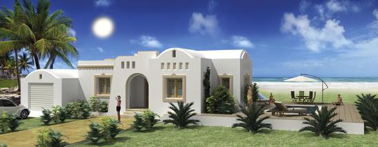 Maison tunisienne traditionnelle et moderne en tunisie aux for Plan maison tunisie