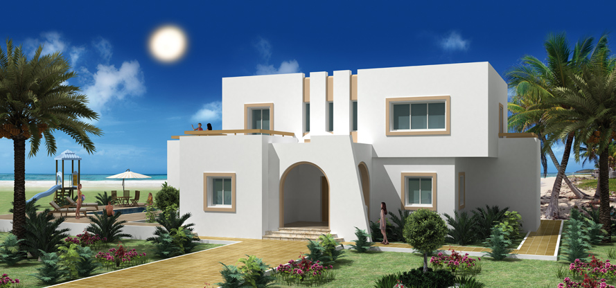 Construire en tunisie avec les plans de maisons elyssa for Modele de maison moderne en tunisie