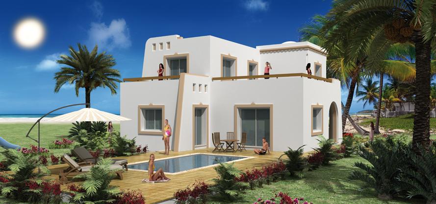 En tunisie une maison de style art nouveau modernis e for Architecture tunisienne maison