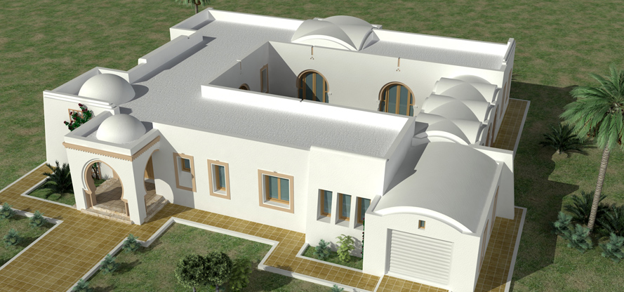 Plan de maison en tunisie for Architecture maison tunisie