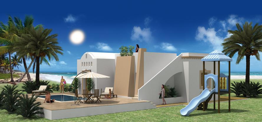 Construire en tunisie avec les plans de maisons nora avec for Plan de maison en tunisie